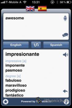iTranslate Plus на iPhone