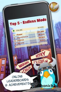 Игра на iPhone Bird Strike – GOLD EDITION