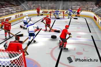 Игра на iPhone (iPad) Stinger Table Hockey
