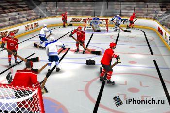 Игра на iPhone (iPad) Stinger Table Hockey
