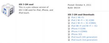 iOS 5 GM 9A334