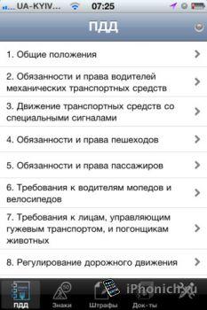 Справочник водителя - Ангіна UA - довідник водія (iPhone,iPad)