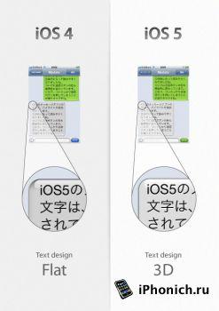 IOS 5 некоторые тонкие графические изменения
