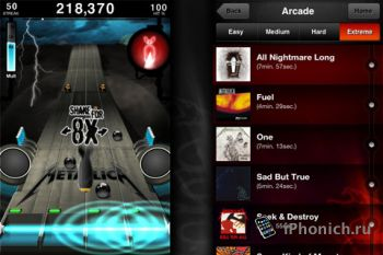 Игра на iPhone Metallica Revenge