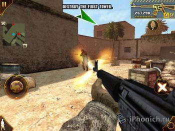 Modern Combat: Sandstorm HD на iPad