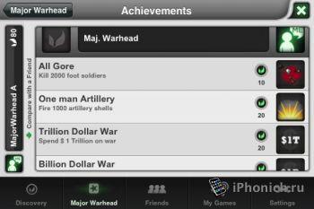 Игра на iPhone Major Warhead