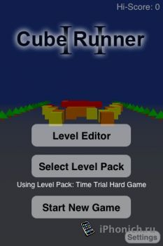 Игра для iPhone Cube Runner II