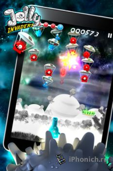 Игра на iPhone/iPad Jelly Invaders