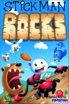 Игра на iPhone StickMan Rocks