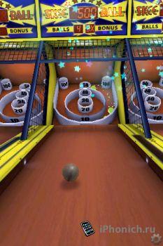 Игра на iPhone Skee-Ball
