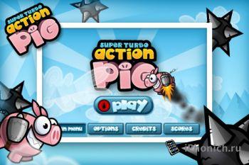 Игра на iPhone Super Turbo Action Pig
