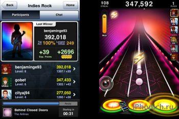 Игра на iPhone Tap Tap Revenge 3