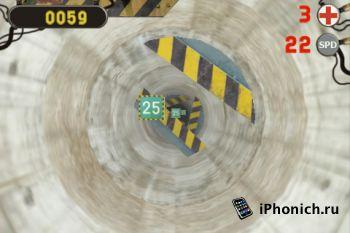 iPhone игра 3D Tunnel