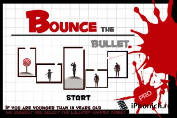 Игра на iPhone Bounce Bullet Pro
