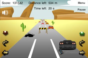 Игра на iPhone Crazy Cars