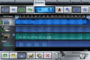 Программа на iPhone Music Studio (+iPad)