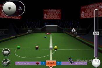 Бильярд для iPhone - International Snooker 2012