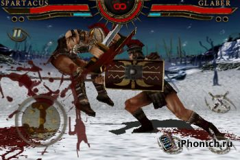 Игра на iPhone Spartacus: Blood and Sand