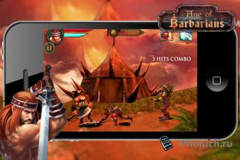 Игра для iPhone Age of Barbarians
