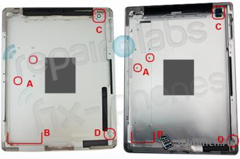 iPad 3 фото задней панели