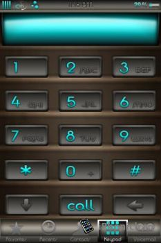 Тема Сhocolate HD для iPhone