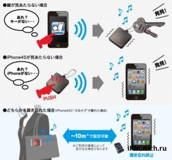 Logitec Burutag ─ специальный брелок для поиска iPhone и iPad