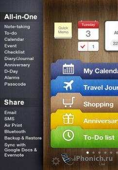 Awesome Note (+To-do/Calendar) на iPhone