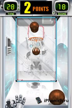Игра для iPhone Arcade Hoops Basketball