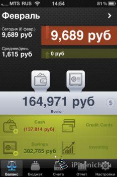 Money iQ - Умные Финансы iPhone