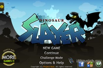 Игра на iPhone Dinosaur Slayer