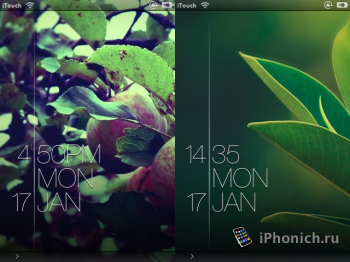 Тема из Cydia : Blink Lockscreen