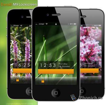 Тема Danael M9 Lockscreen для iPhone/iPod