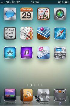Zahra HD - тема для iPhone 4s