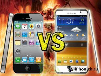 iPhone 5 vs Galaxy s3 - сравнение дизайнов