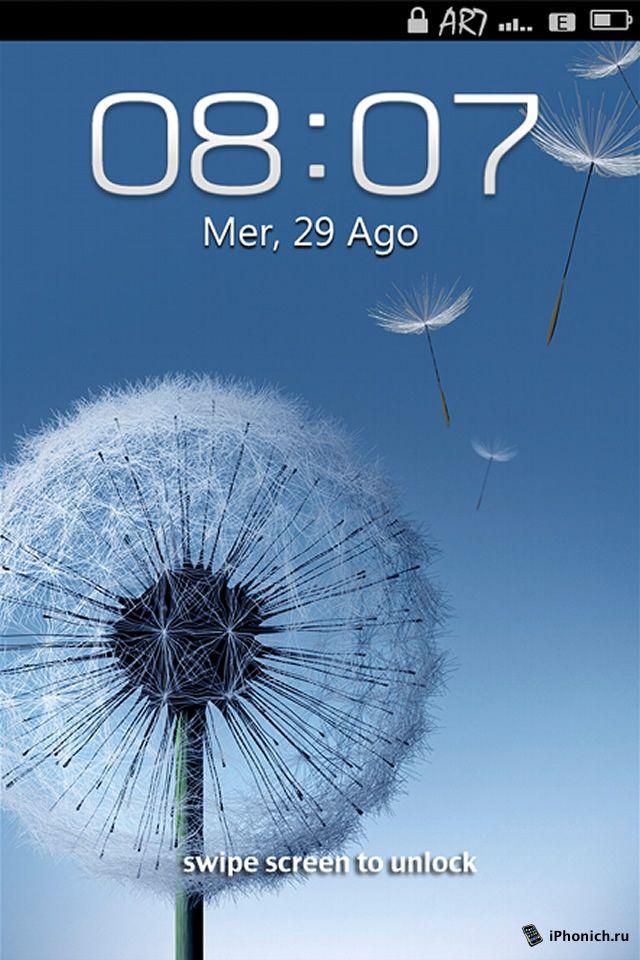 LS Galaxy S3 - тема iPhone 4S