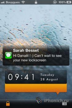 Danael M9 Lockscreen 2.0 - тема для iPhone 4S