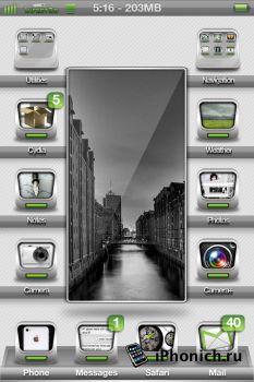 1nfect3d Touch Lockscreen - тема для iPhone 4