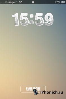 LS Big Print - тема для iPhone 4S