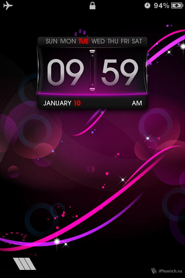 LS Purple - тема для iPhone 4s