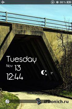 TimeBack Lockscreen - тема для iPhone 4S