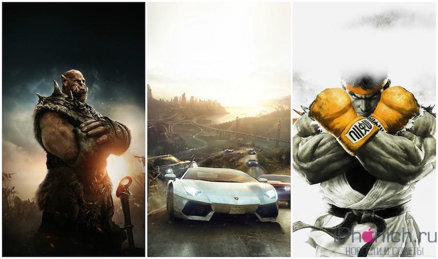 Обои для iPhone и iPad на тему Игры