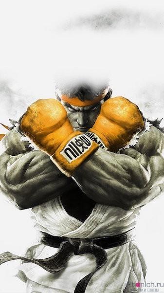 street-fighter-gold-ryu-art-illust-game-iphone-6