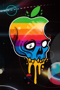Apple-Logo-Skull-iphone-4s-wallpaper-ilikewallpaper_com