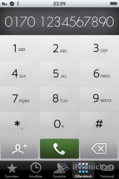 iSky Dialer тема для  iPhone 4S