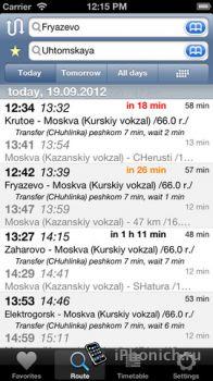 Расписание электричек - России и некоторых городов СНГ