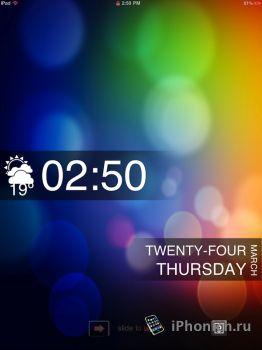 Clear and Classy Lockscreen - тема для iPad