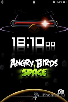 LS Angry Birds Space - тема для iPhone 4s