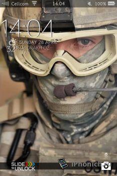 Military LS - тема для iPhone 4 и iPhone 3GS