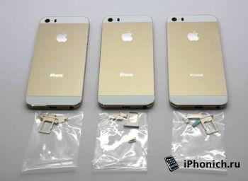 Золотой корпус iPhone 5S (фото)