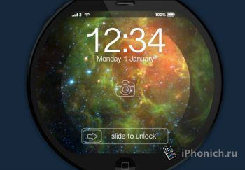 Концепт круглого iPhone Pi